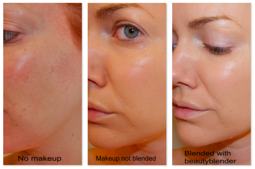 """I find that the blender takes away the foundation """"look"""" and just gives you flawlessly covered skin."""