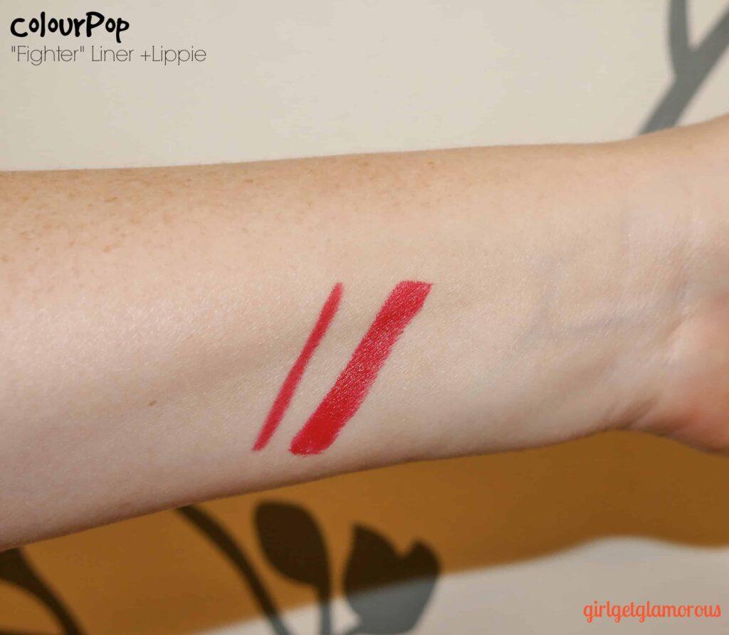 Colourpop Fighter Lippie  Red Lipstick Shade Swatches -9344