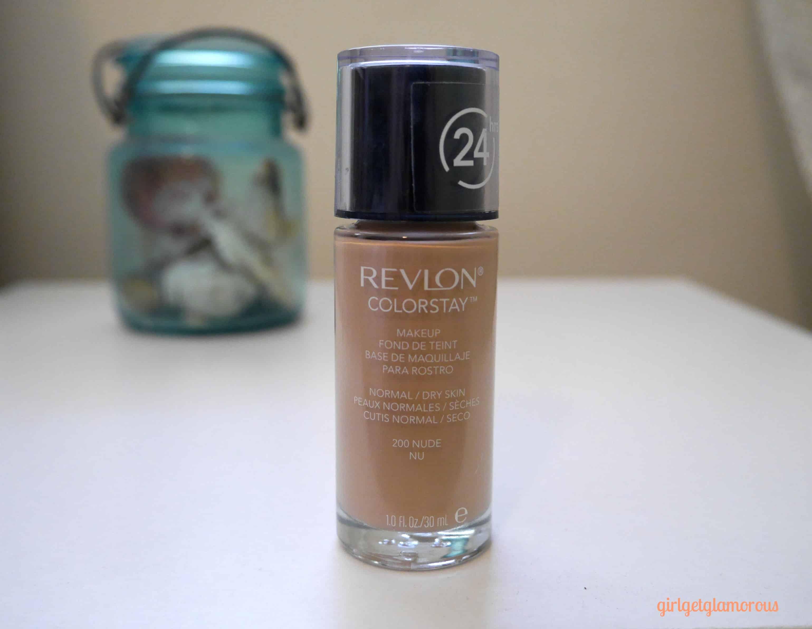 Revlon Colorstay Foundation Normal Dry Skin Review Swatch Shade 200 Girlgetglamorous