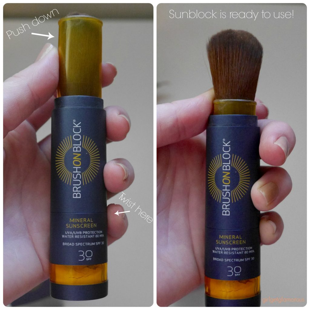sunblock sunscreen brush on block review demo beauty blog blogger