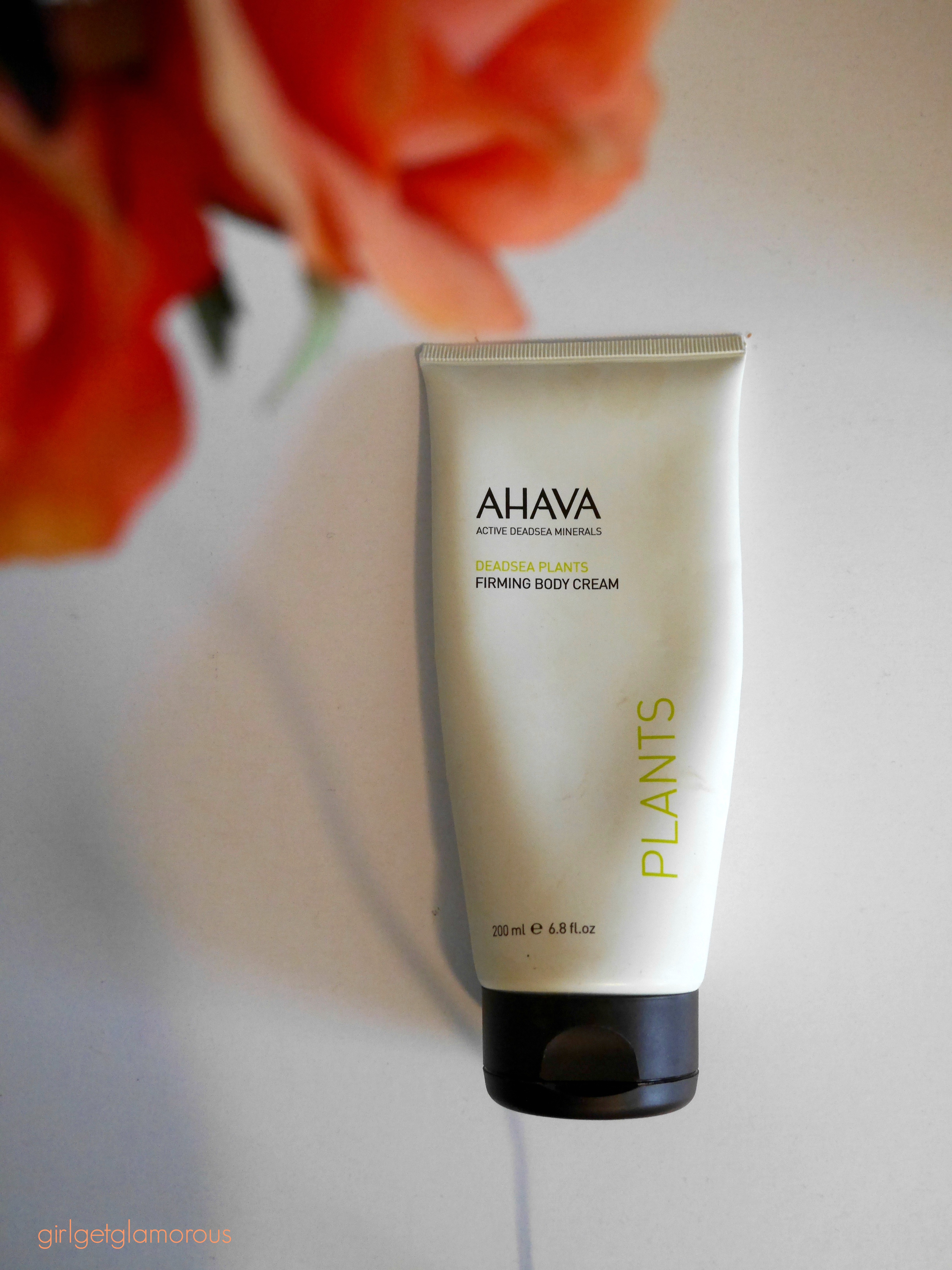 ahava beauty blog review firming body lotion