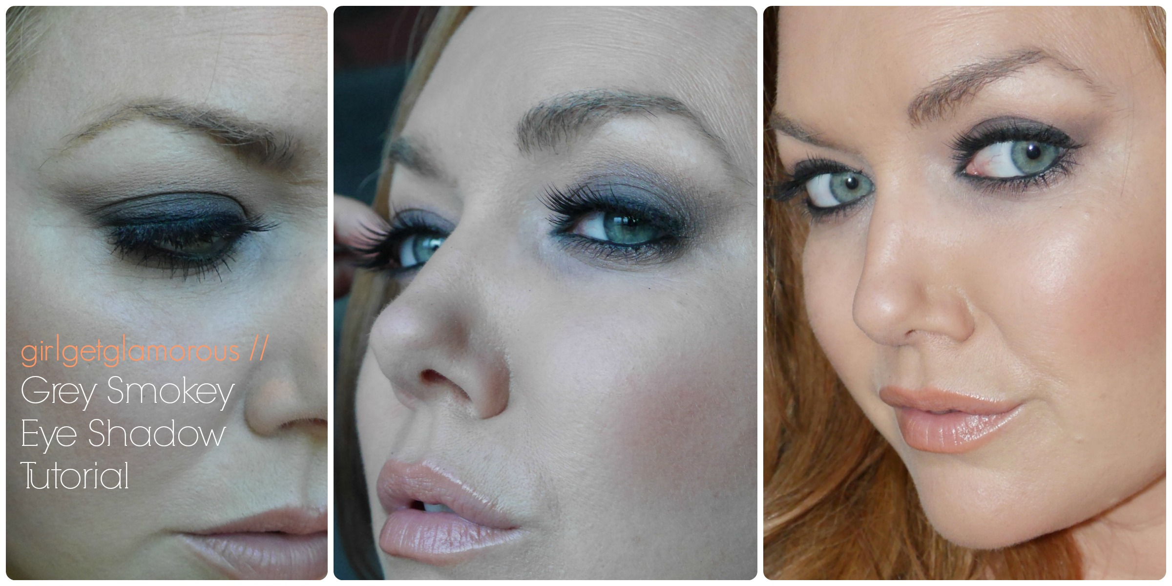 Grey Smokey Eye Shadow Tutorial   Fair Skin + Redhead Friendly ...