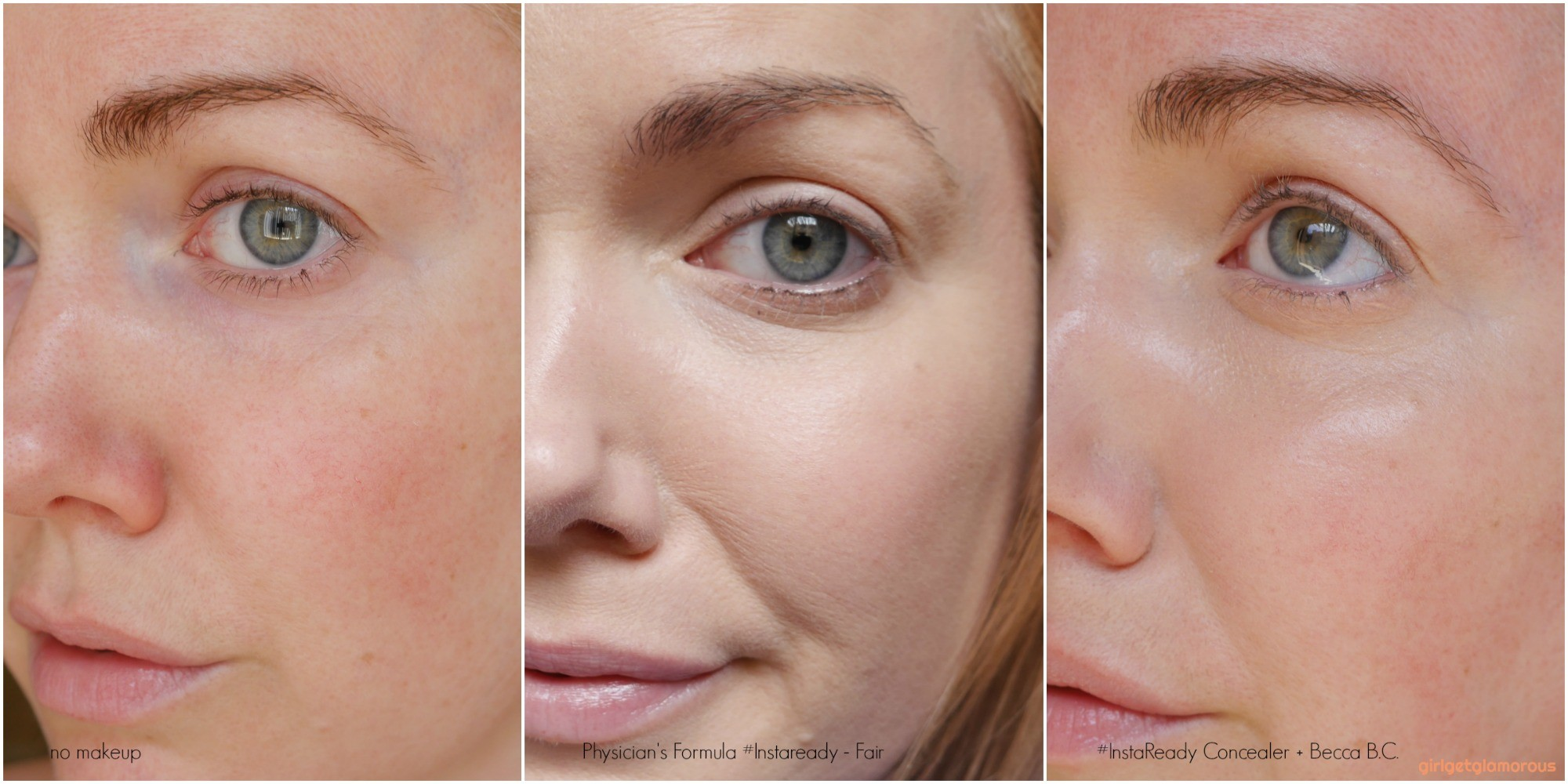 Physician's Formula instaready concealer swatch shade fair dry mature dark circles coverage