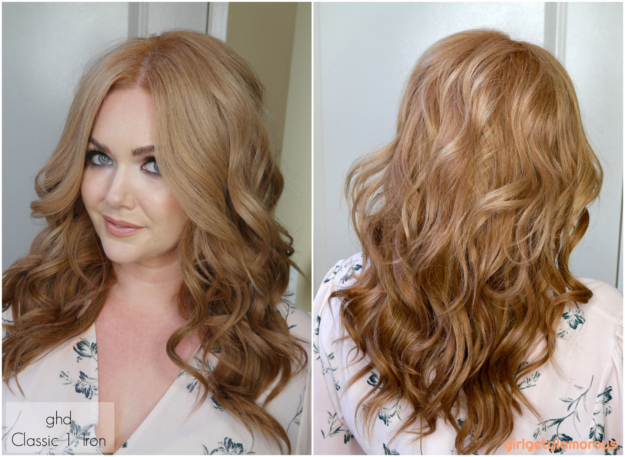 """ghd classic 1 1"""" curler curl results before after beach curls waves beauty blog best curler for my hair blogger"""