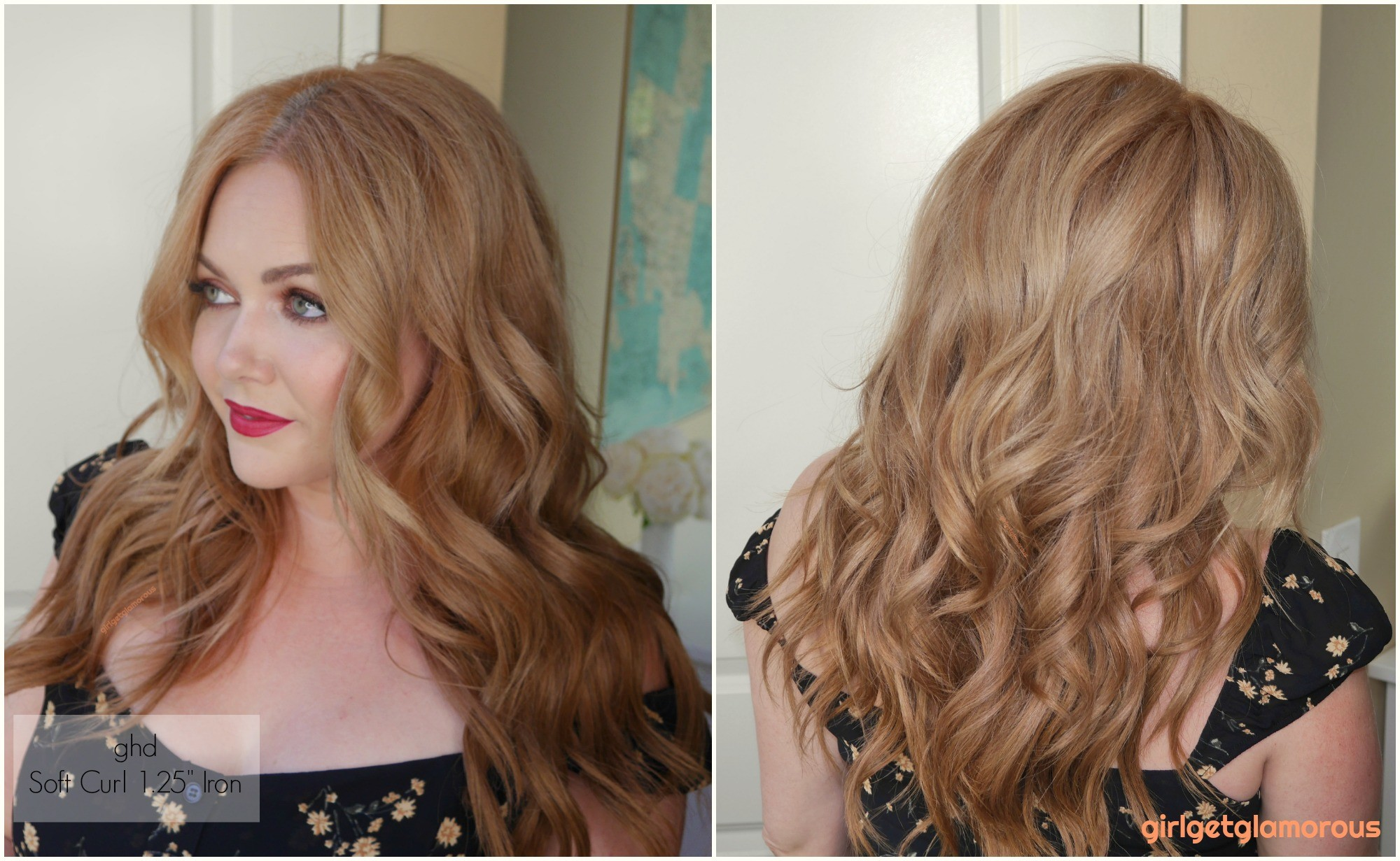 """ghd 1.25"""" 1.25 loose soft tong wand curler curl results before after beach curls waves beauty blog best curler for my hair blogger"""