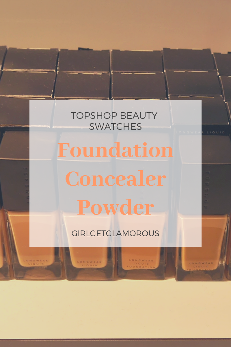 topshop beauty relaunch swatches shades pictures foundation concealer face powder