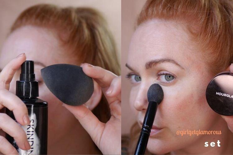 how to set concealer
