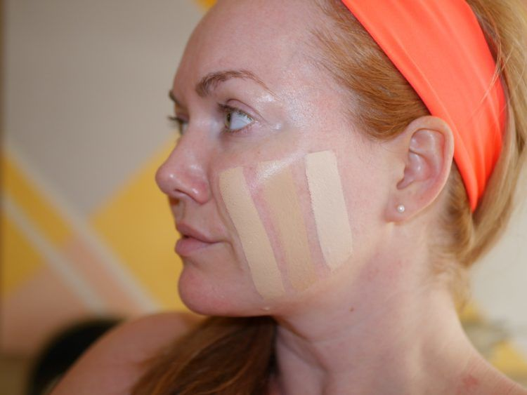 foundation striping swatches
