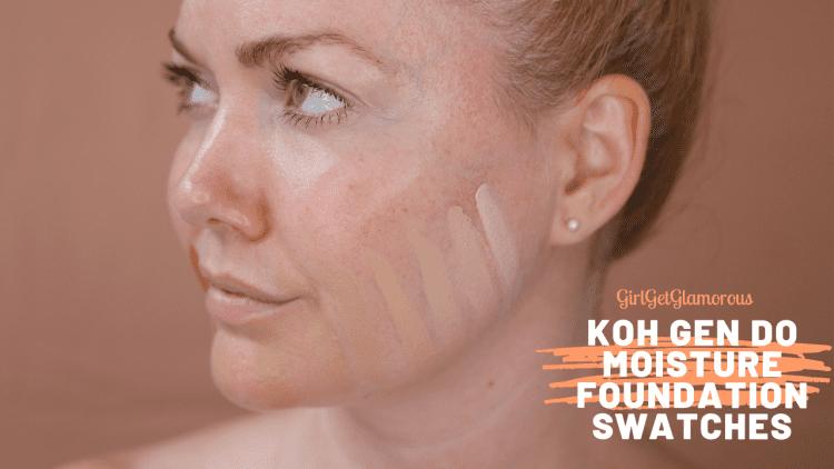 koh gen do moisture foundation swatches