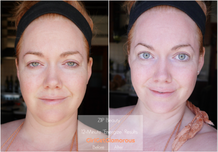 ziip beauty results before after with makeup