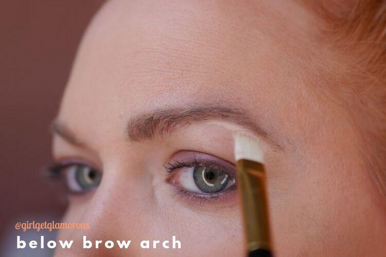 below eye brow arch demo highlight