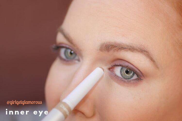 inner corner eye highlight demo