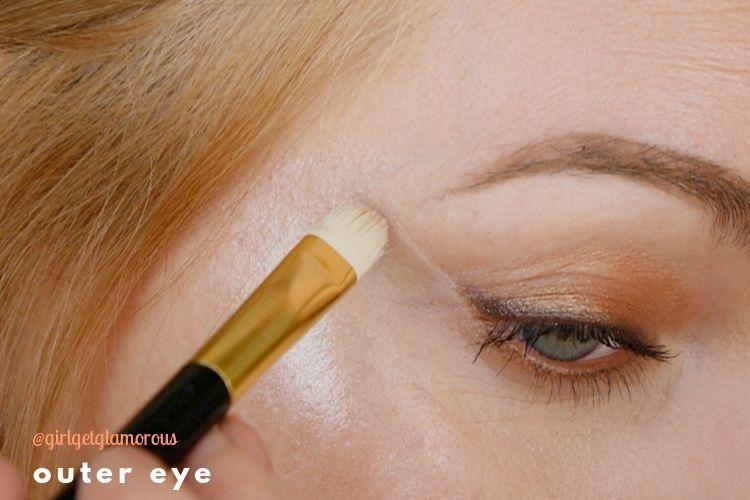 outer eye lid lift demo makeup