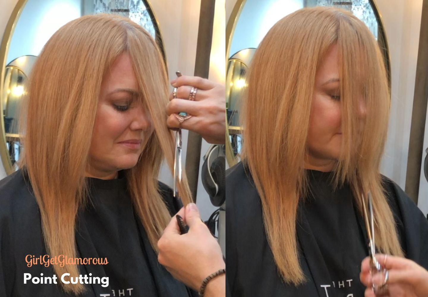point cutting for hair volume