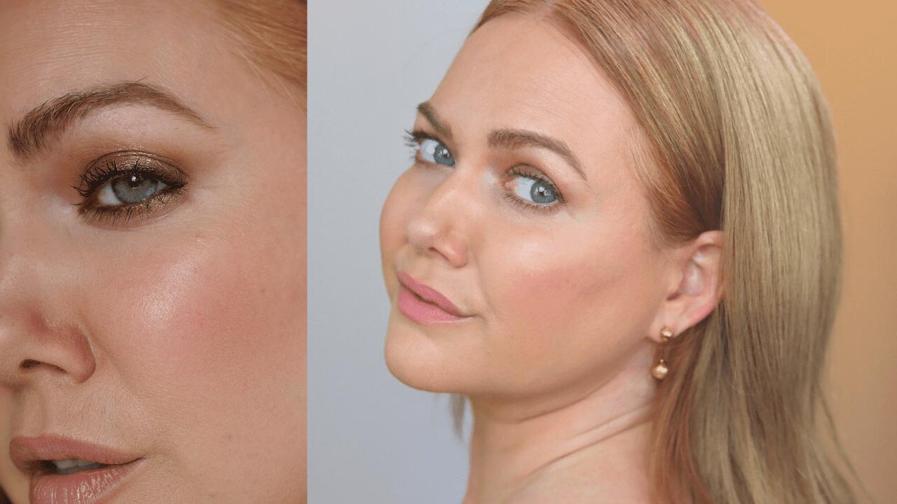 bronze quick makeup