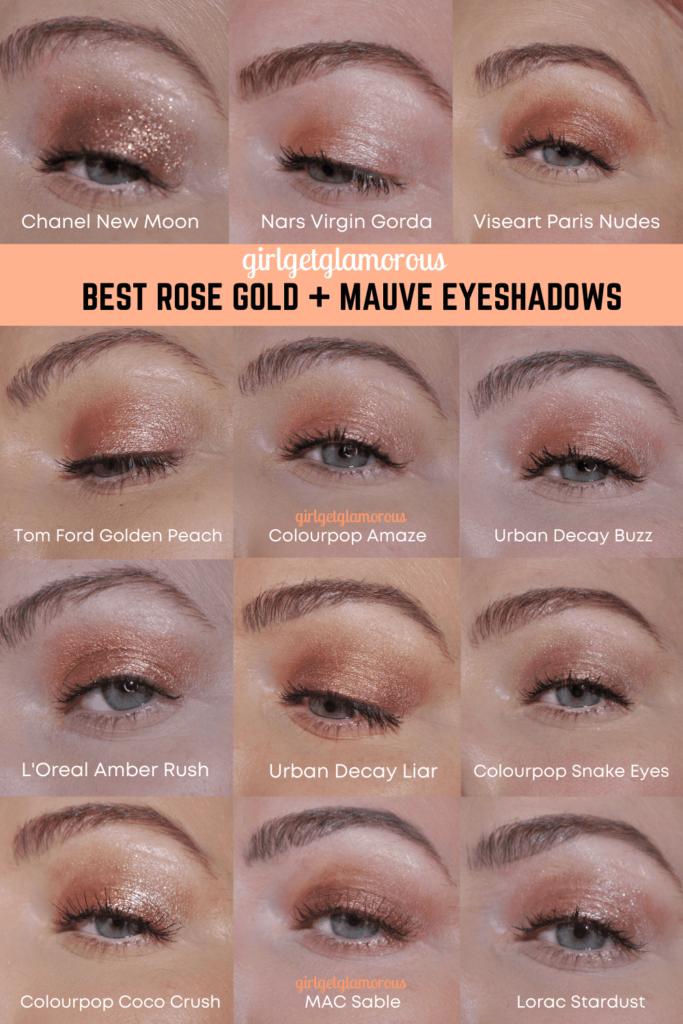 rose gold eyeshadows